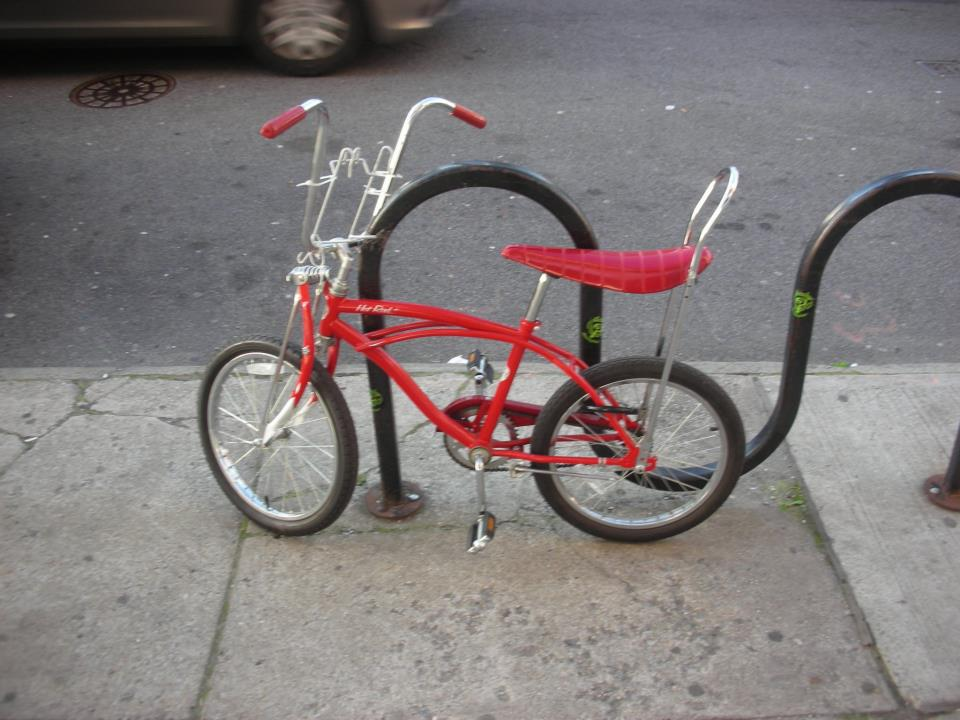 New York Design, Vintage children's bike on Manhattan street