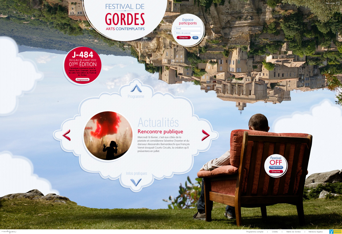 © François Soulignac - Festival de Gordes (graphic and ergonomic proposition)