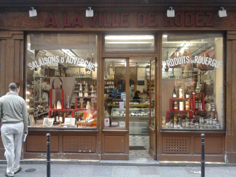 Paris Store Front | A la ville de Rodez, Salaisons d'Auvergne